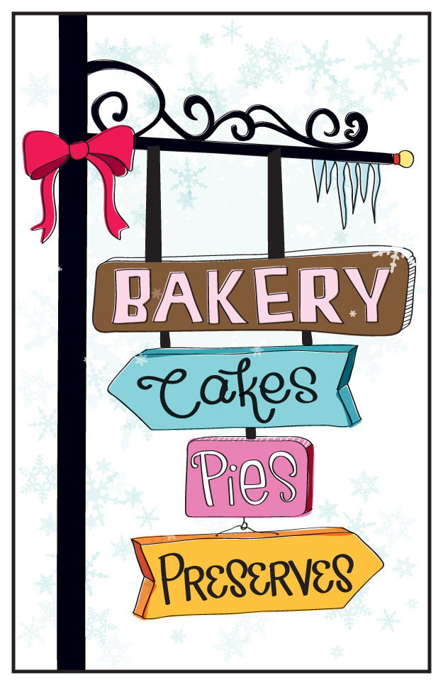 Christmas Marketplace Bazaar At Ouc Bakery Booth Poster