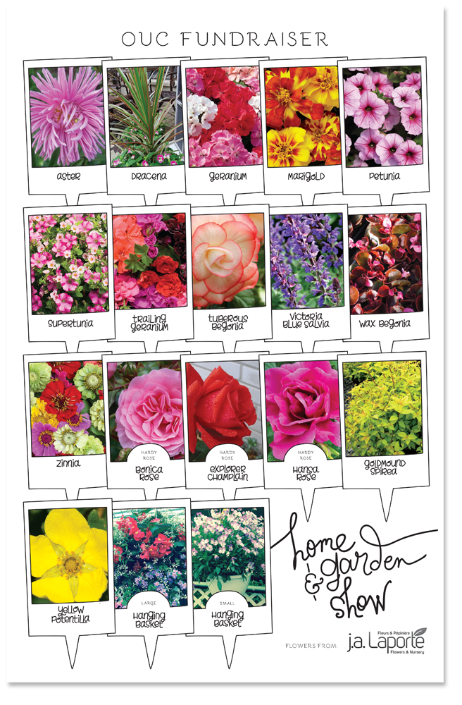 OUC home & garden show | flowers poster