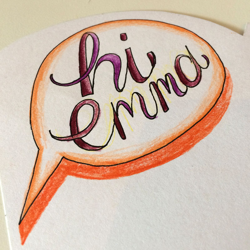 emma's card