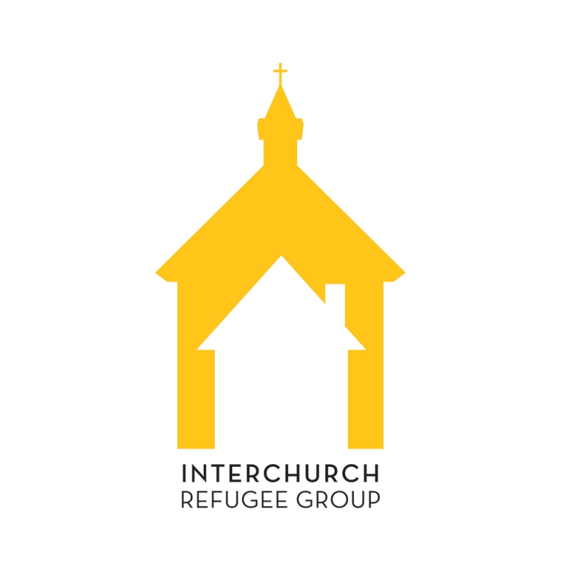 interchurch refugee group logo branding by laura weatherston