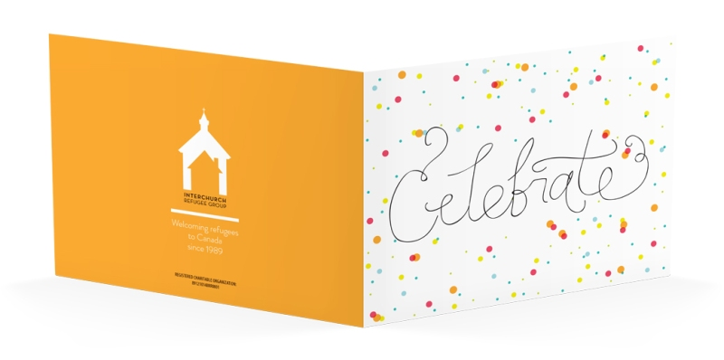celebrate card by interchurch refugee group by laura weatherston