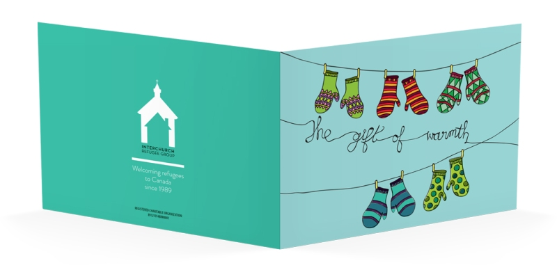 christmas card for interchurch refugee group by laura weatherston