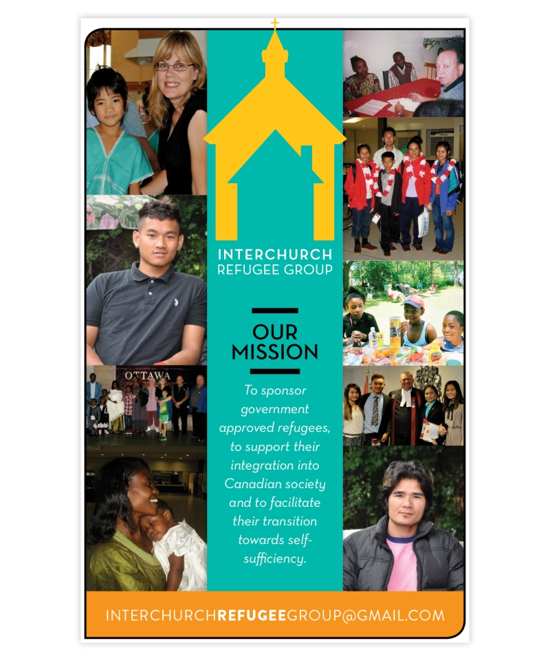 interchurch refugee group poster by laura weatherston