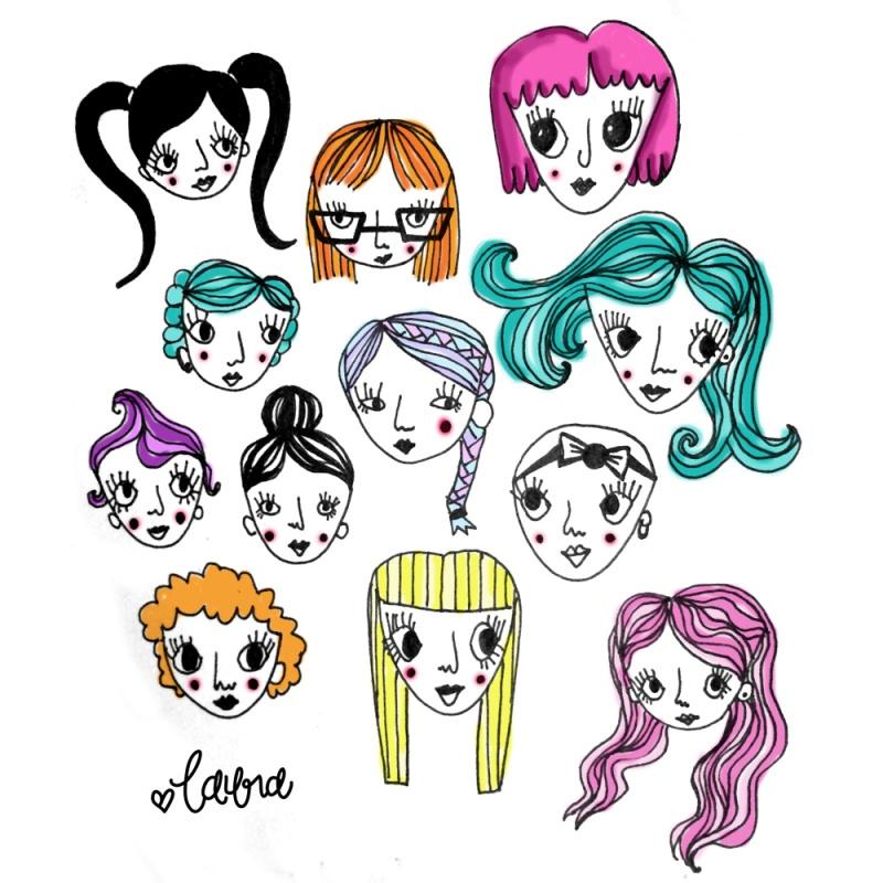 corkboardcreative-lauraweatherston-twelveweirdlittlegirls