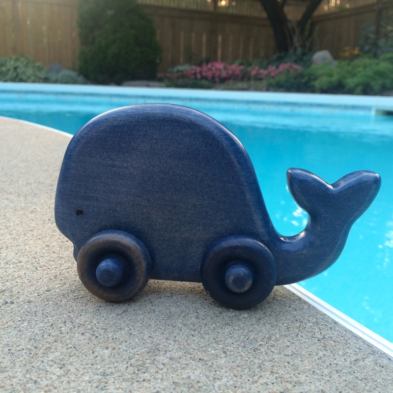 wooden whale by laura weatherston